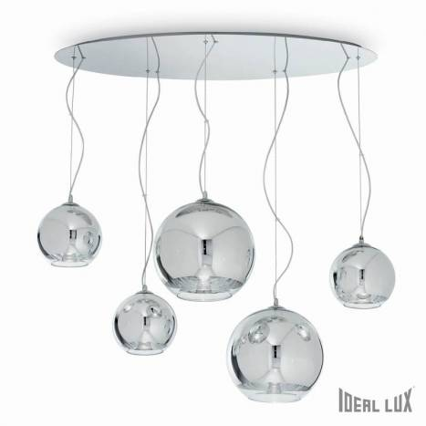 IDEAL LUX Discovery 5L chrome hanging lamp