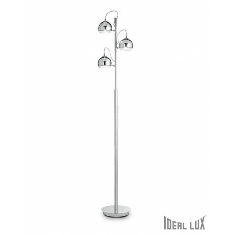 Ideal lux discovery 3l chrome blown glass floor lamp ideal lux discovery 3l chrome floor lamp aloadofball Images