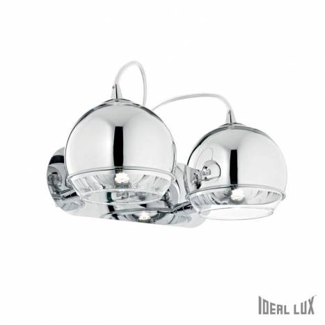 IDEAL LUX Discovery 2L chrome wall lamp