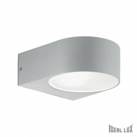 Aplique de pared Iko 1L E27 gris - Ideal Lux