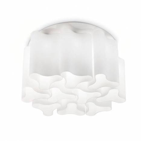 IDEAL LUX Compo 10L white glass ceiling lamp