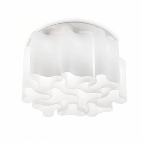 Plafón de techo Compo 10L vidrio blanco - Ideal Lux