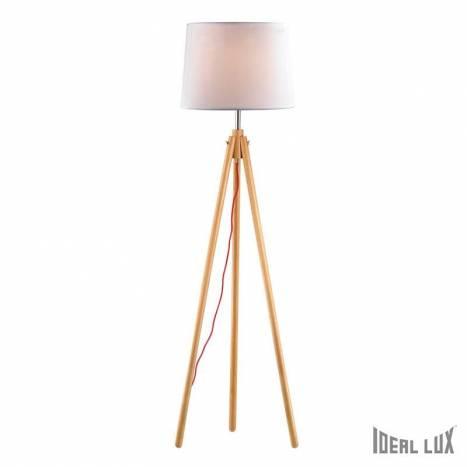 IDEAL LUX York 1L floor lamp wood
