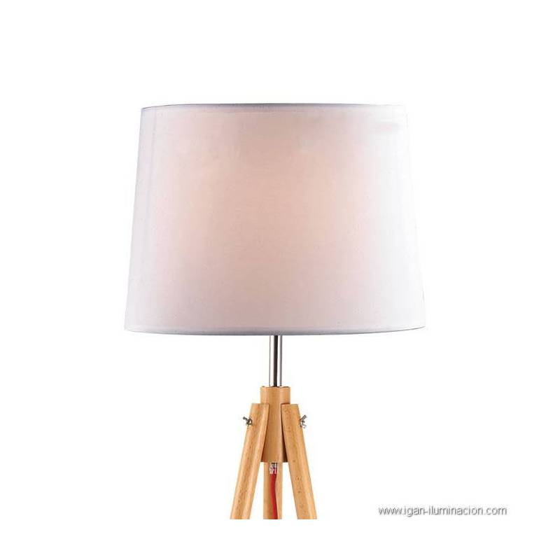 Ideal Lux York 1l Floor Lamp Natural Wood