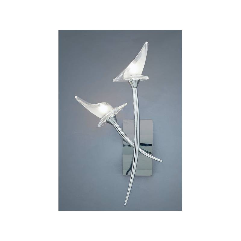 Wall Lamps Chrome : Mantra Flavia wall lamp 2l chrome