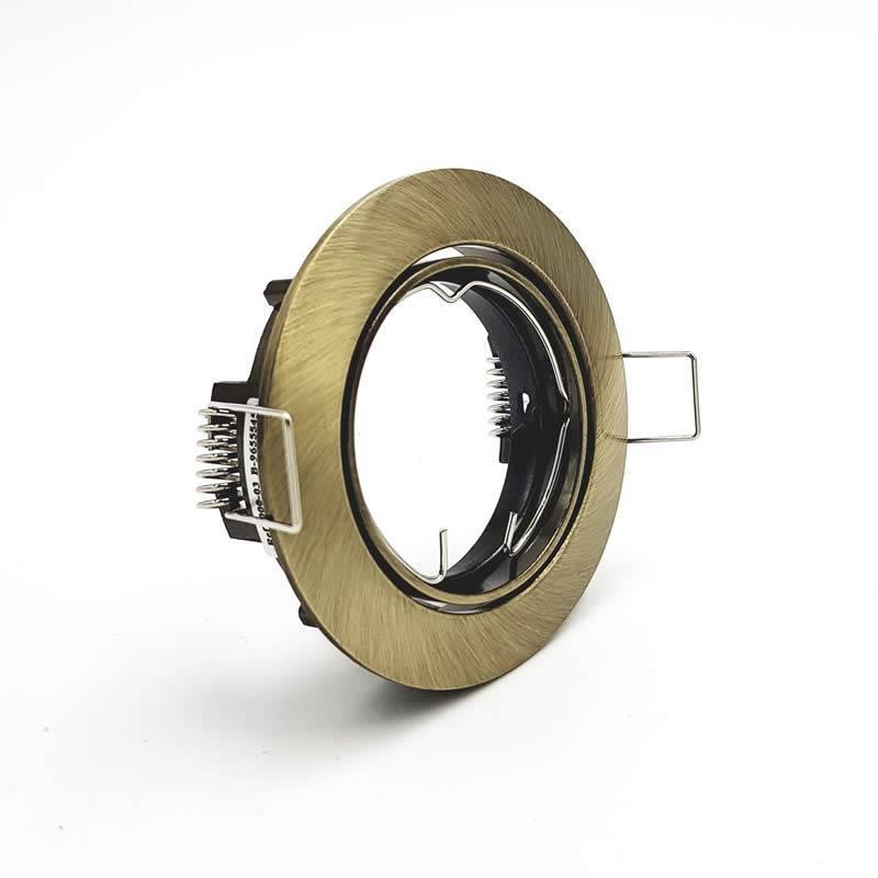 Foco empotrable 202 GU10 circular bronce - Maslighting