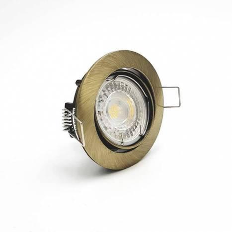 Foco empotrable 202 circular bronce