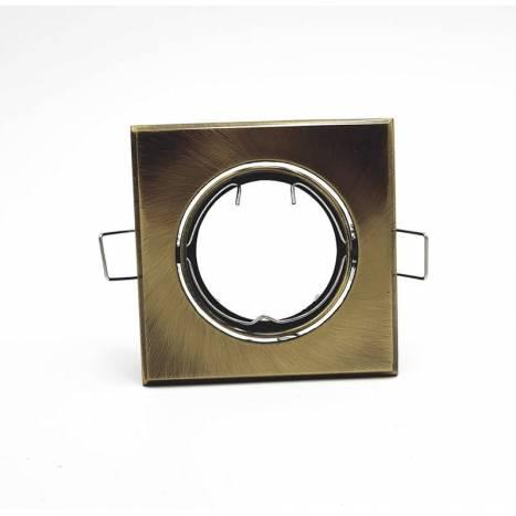 MASLIGHTING 225 square recessed light bronze