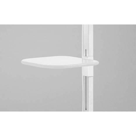 Lámpara de pie Tray blanca pantalla tela - Brilliance