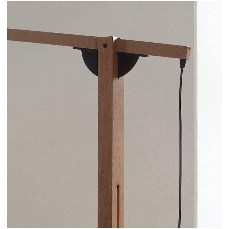 L mpara de pie mastil 3l e27 madera pino brilliance - Lampara de pie de madera ...