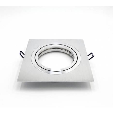 Foco empotrable cardan 2256 cuadrado aluminio