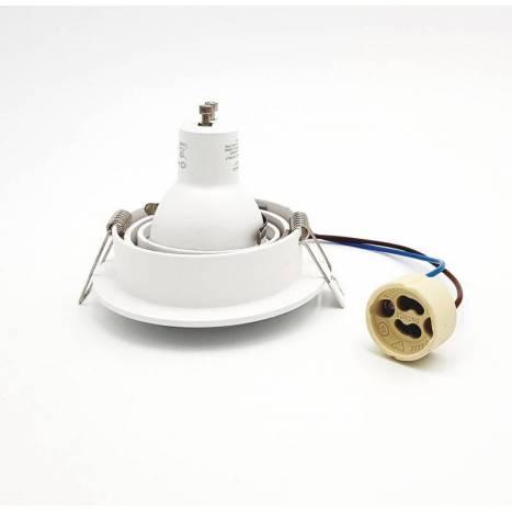 MANTRA Tek round recessed light white