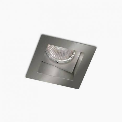 BPM Basit square recessed light silver aluminium