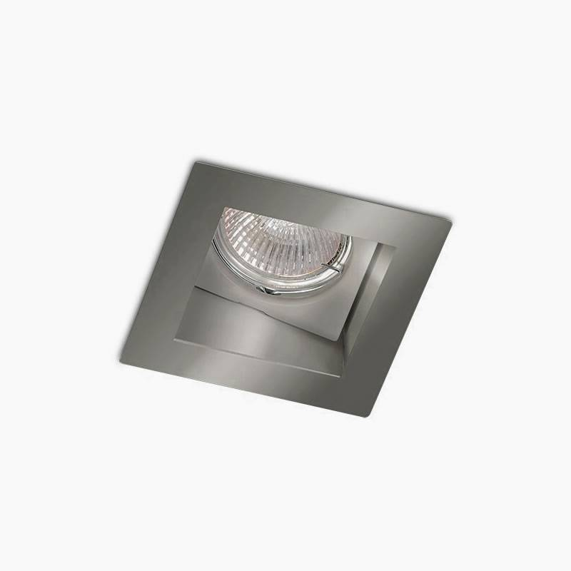 BPM Basit square recessed light silver aluminium