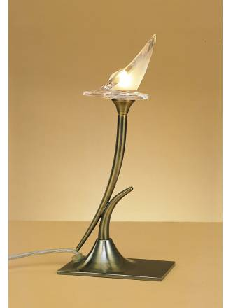 Mantra Flavia table lamp 1l antique brass