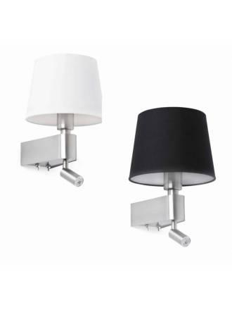 FARO Room wall lamp 2L nickel
