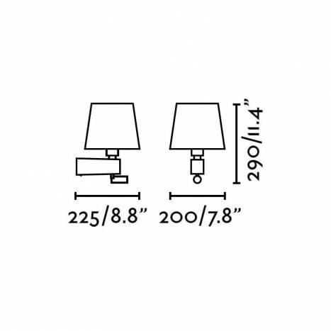 Aplique de pared Room 2 luces níquel - Faro