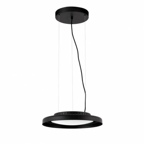 FARO Dolme 24w LED black steel pendant lamp