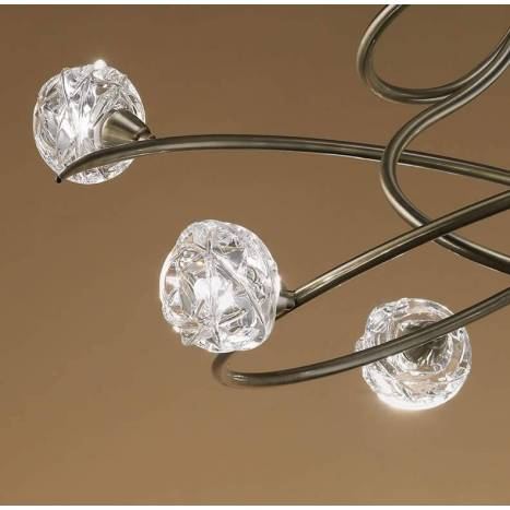 Mantra Maremagnum ceiling lamp 6L G9 LED leather