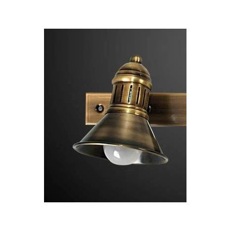 IRVALAMP Portugal lineal surface spotlight 2L brass