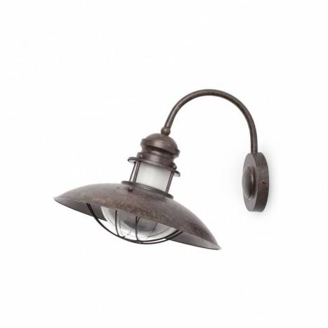FARO Winch wall lamp 1L brown steel