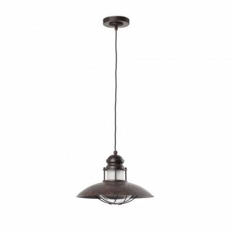 FARO Winch pendant lamp 1L brown steel