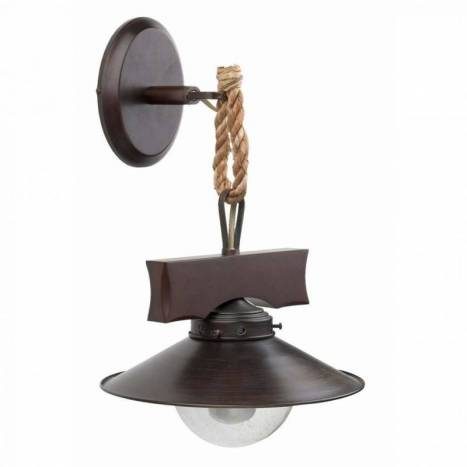 FARO Nudos wall lamp 1L steel and glass