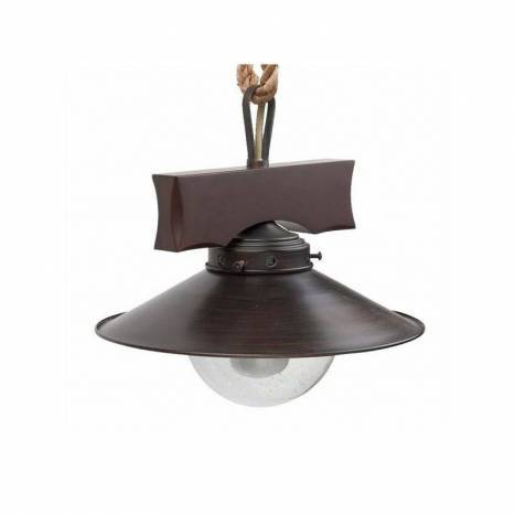 FARO Nudos pendant lamp 1L steel and glass