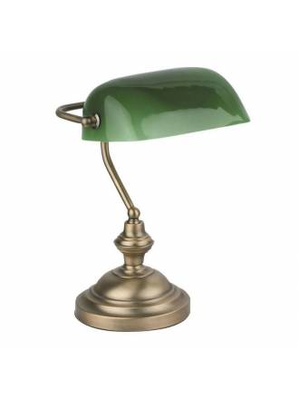 FARO Banker table lamp 1L bronze metal
