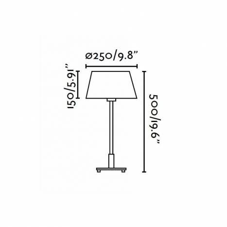 FARO Mitic table lamp 1L beige