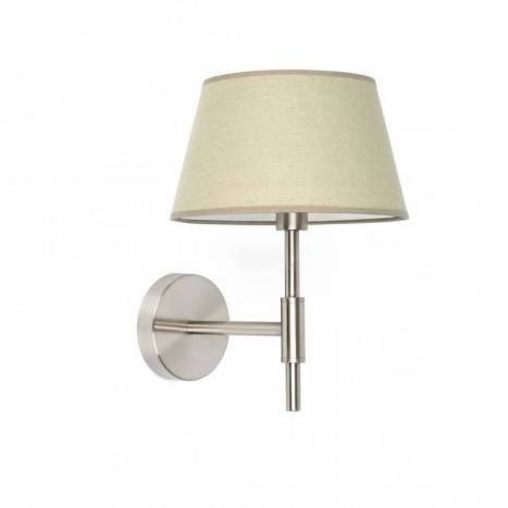 Aplique de pared Mitic 1 luz tela beige - Faro