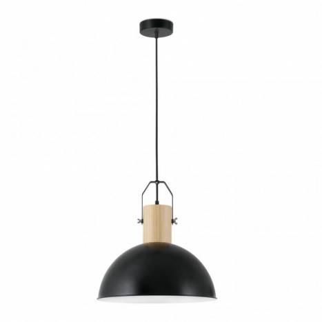 Lámpara colgante Margot 1 luz negra - Faro