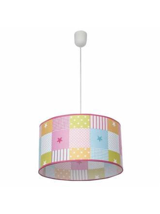 Lámpara infantil Cuadros 1L 35cm colores - Fabrilamp
