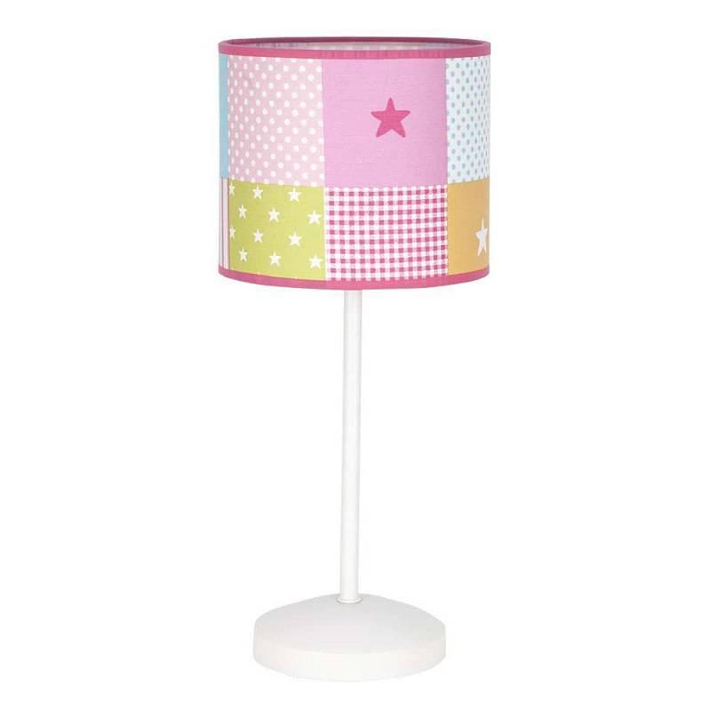 L mpara de mesa infantil cuadros 1l colores fabrilamp - Lamparas para mesa ...