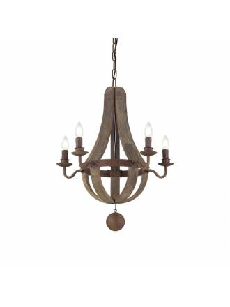 IDEAL LUX Millennium pendant lamp wood
