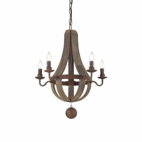 Lámpara Millennium SP madera + forja - Ideal Lux
