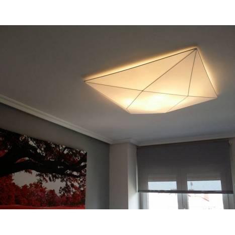 OLE by FM Polaris ceiling lamp 80cm white fabric