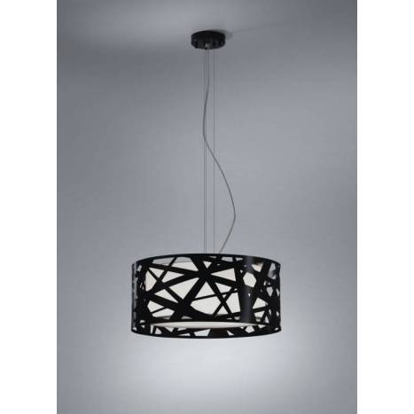 BRILLIANCE Mercury pendant lamp 3L black metal