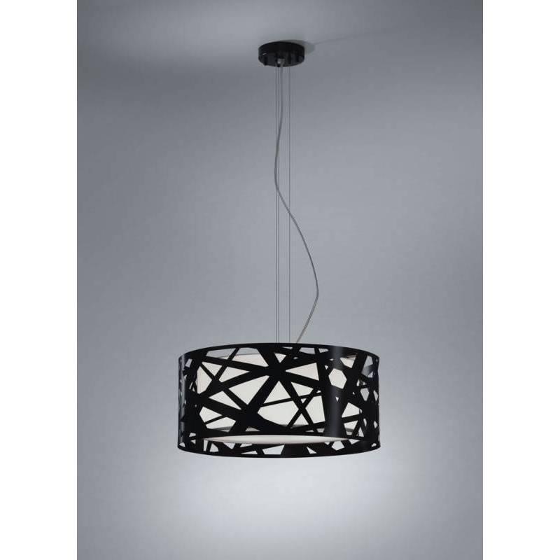 Lámpara colgante Mercury 3 luces metal negro - Brilliance