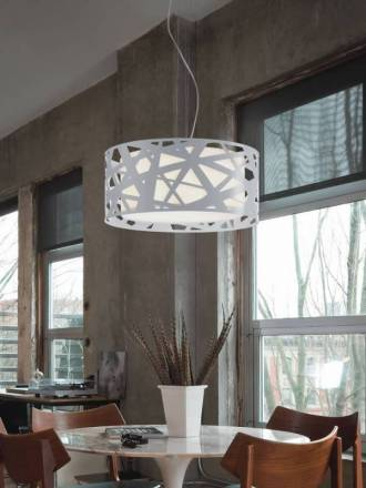 BRILLIANCE Mercury pendant lamp 3L white metal