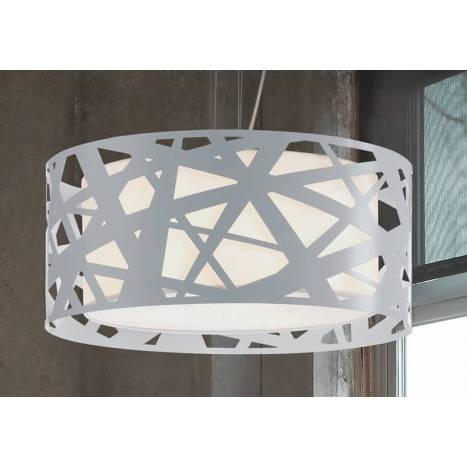 Lámpara colgante Mercury 3 luces metal blanco - Brilliance