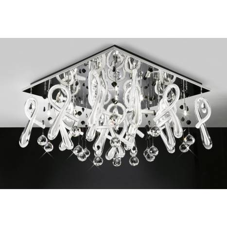 Mantra Class ceiling lamp G4 20 light white glass