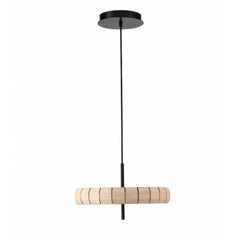FARO Phill LED 24w wood pendant lamp