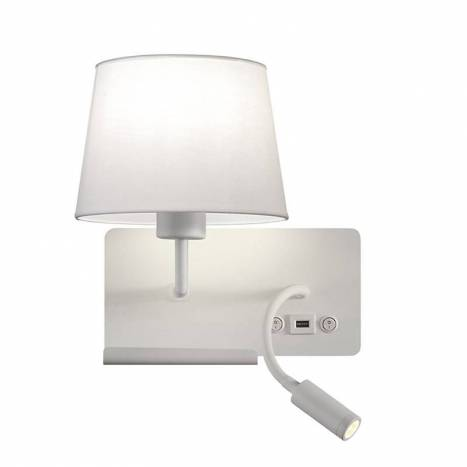 Aplique de pared Hold USB E27 + LED 3w - ACB