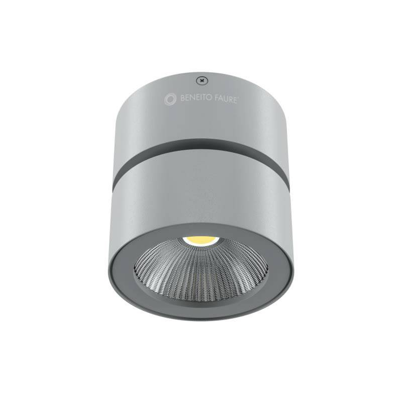 Foco de superficie concord led 15w cromo mate beneito faure for Focos led superficie