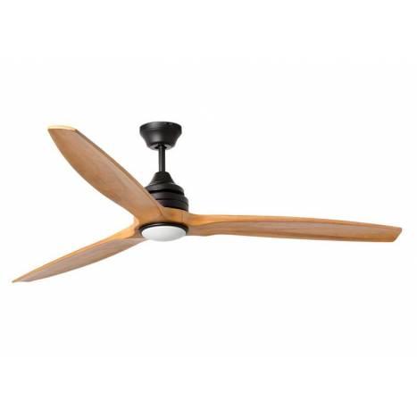 Greatest FARO Alo 1L natural wood pine ceiling fan LU47