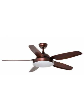 FARO Leyte DC 1L brown polycarbonate ceiling fan