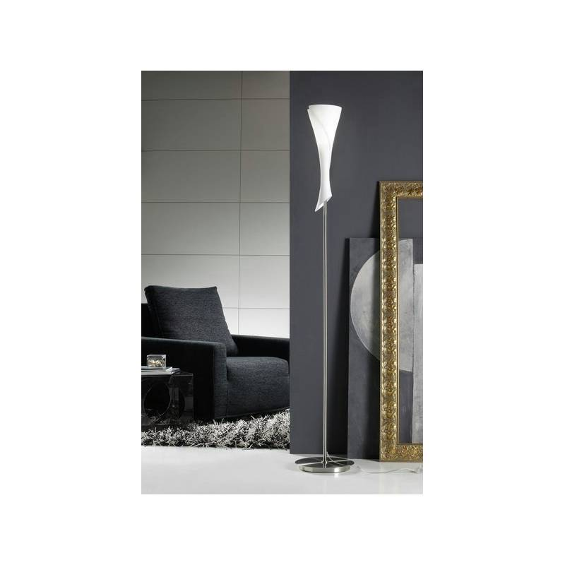 Mantra zack floor lamp 1l opal glass for Mantra 5 light floor lamp