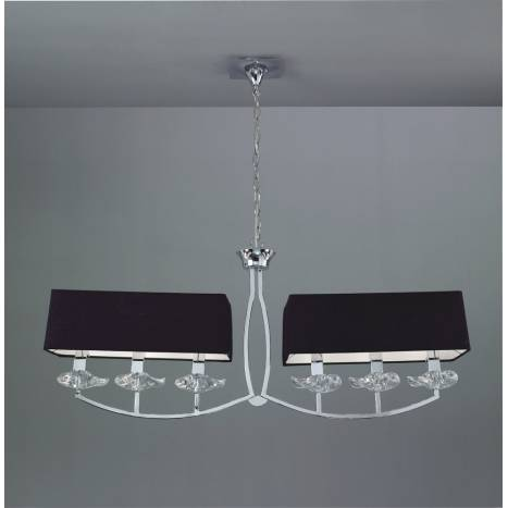 Mantra Akira ceiling lamp 6L black shade