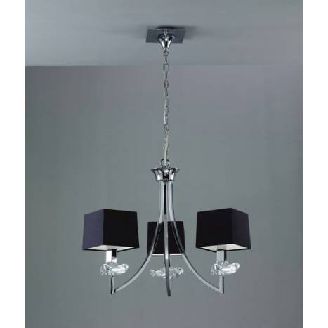 Mantra Akira ceiling lamp 3L colors
